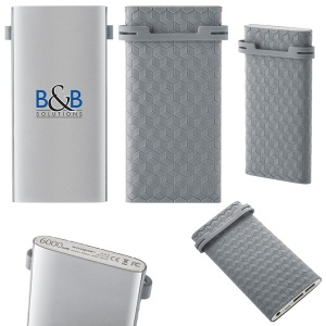Slim Icebag Powerbank comes with the BC Titanium Power Tech Backpack and can be printed full color.